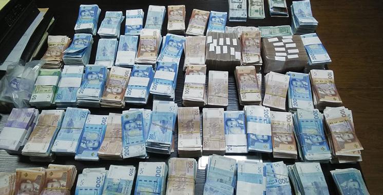 Casablanca : Plus de 2 millions DH saisis chez 4 suspects impliqués dans un hold-up