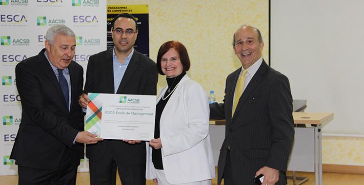 Après l'avoir certifiée en novembre 2018 : Des représentants de l'AACSB en visite à l'ESCA