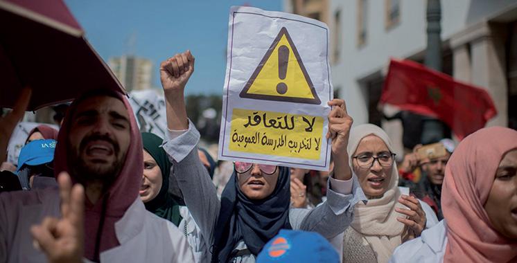 Malgré les menaces de sanctions brandies par Amzazi : Les enseignants prolongent leur grève jusqu'au 14 avril