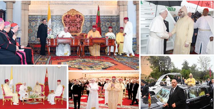 Historique : Amir  Al-Mouminine  et Sa Sainteté  le Pape signent «l'Appel d'Al Qods»