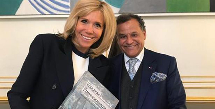 Mehdi Qotbi reçu à l'Elysée par Mme Brigitte Macron