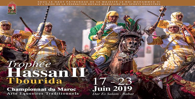 Tbourida : La 20ème édition du Trophée  Hassan II du 17 au 23 juin 2019