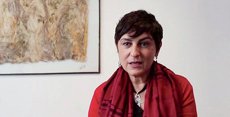 Les œuvres de Linda Bougherara  à Dar Moulay Ali à Marrakech