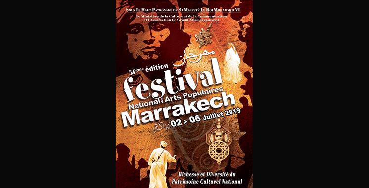 Festival national des arts populaires : Plus de 600 artistes à Marrakech pour fêter le 50ème anniversaire