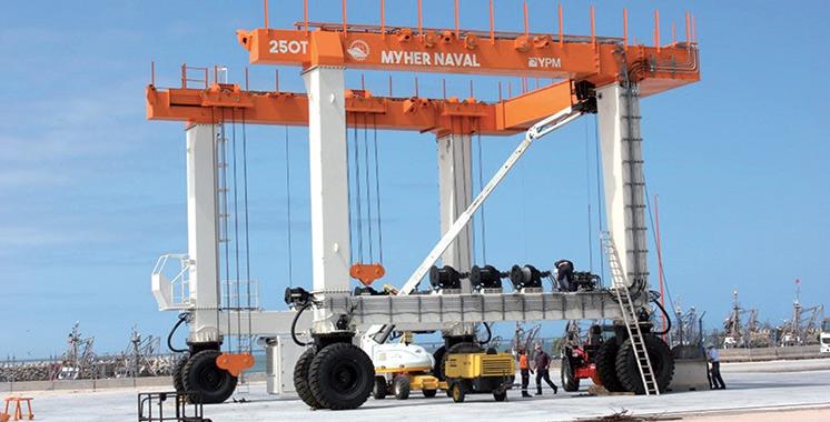 D'un coût total de 8 millions de dirhams : Le port de Laâyoune équipé d'un nouveau portique de 250 tonnes