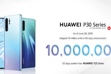 Huawei P30 : 10 millions d'unités écoulées après son lancement