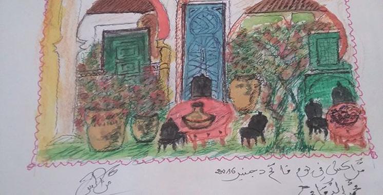 Mohamed Dkaki expose ses récentes œuvres à Marrakech