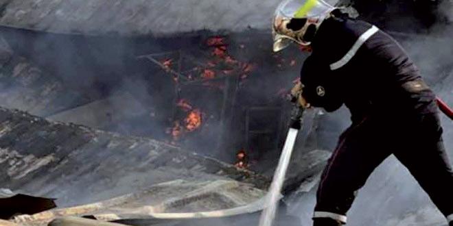 Migrants subsahariens en situation irrégulière : Maîtrise d'un incendie dans  un camp à Casablanca