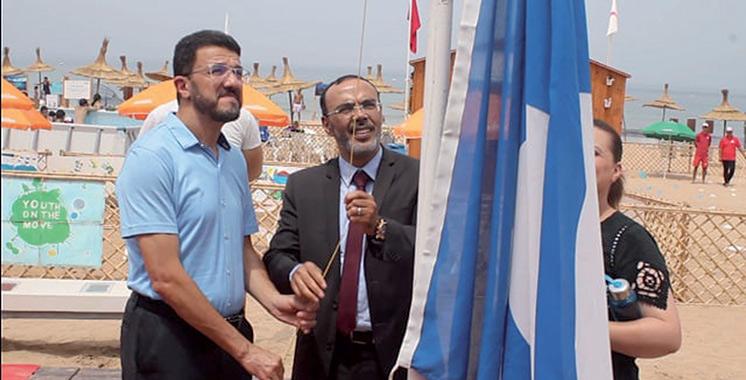 La plage Ba Kassem à Tanger hisse le Pavillon bleu pour la septième année consécutive