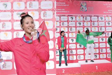 Taekwondo : Une médaille d'or pour la Marocaine Soukaina Sahib et une d'argent pour  Oumaima El Bouchti