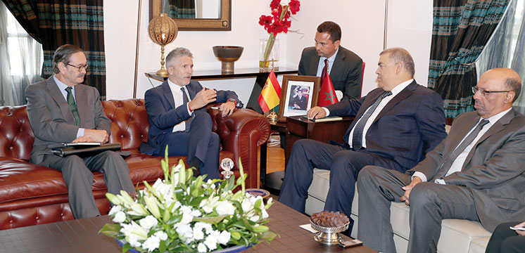Grande-Marlaska souligne le «haut niveau de la confiance mutuelle» avec le Maroc
