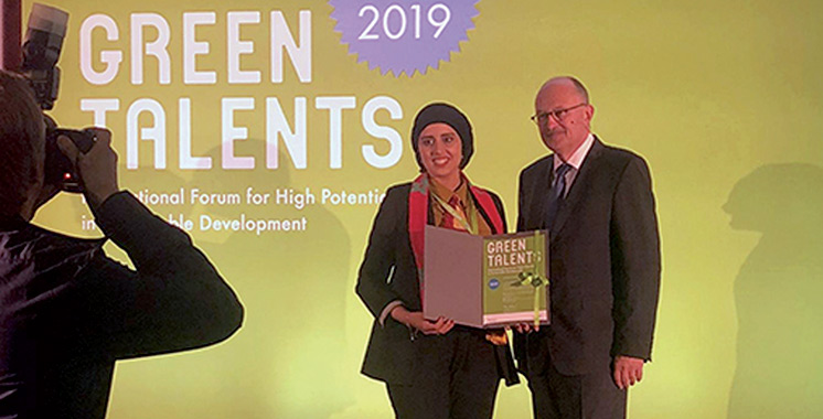 Karima El Azhary lauréate du Green Talents Award au titre de l'année 2019