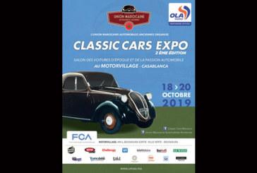 Casablanca: 2ème édition du «Classicars Expo» du 18 au 20 octobre