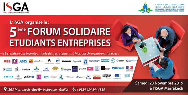 Le Forum entreprises solidaires revient pour une 5ème édition