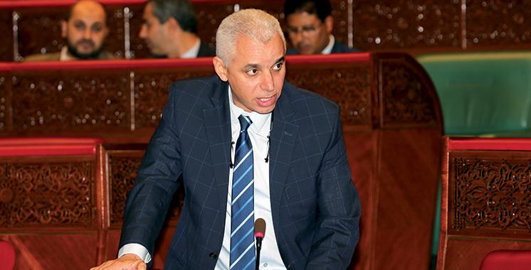 Ait Taleb dans un exposé devant la Commission des secteurs sociaux à la Chambre des représentants