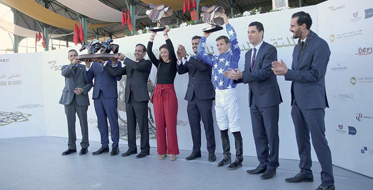 Meeting international du Maroc :Le cheval Rajeh remporte le GP de SM le Roi Mohammed VI du pur-sang arabe