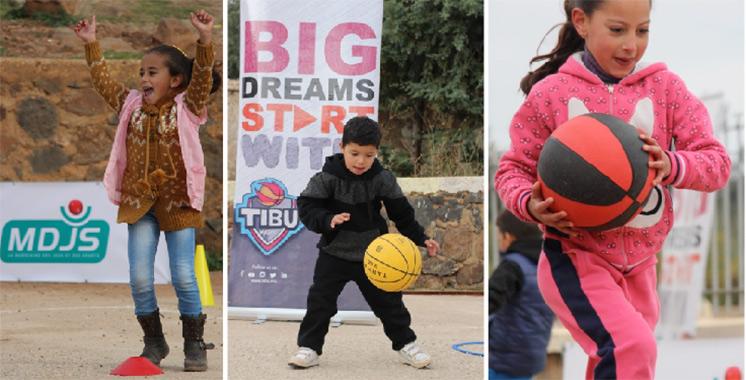«Basket F'Douar» : TIBU Maroc et la MDJS initient  les jeunes ruraux au basket
