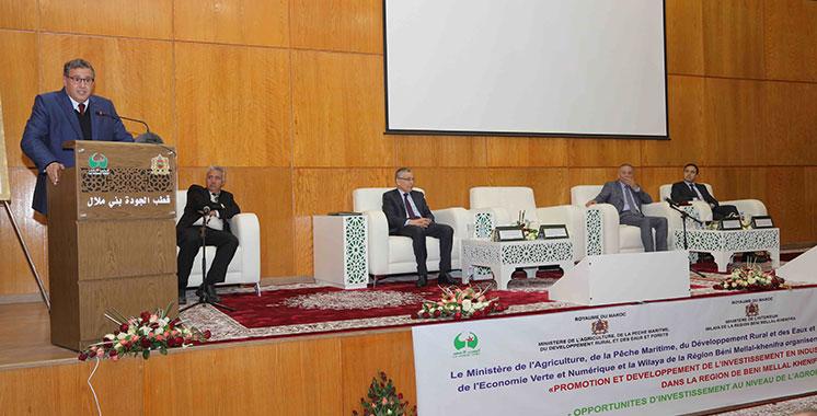 Coup de pouce à l'agro-industrie de Beni Mellal-Khénifra