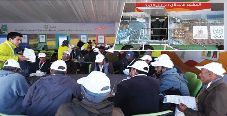 Les équipes d'OCP font escale à la localité d'Ounagha : Lancement d'«Al Moutmir itinérant» pour l'arboriculture