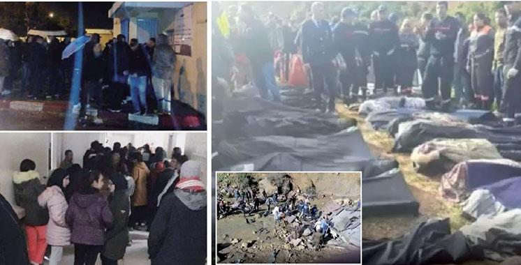 Renversement d'autocar près de Taza :  Le bilan passe à 17 morts et 35 blessés