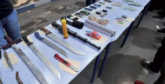 Fkih Ben Saleh : Plusieurs armes blanches saisies à bord d'une voiture