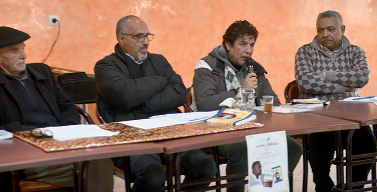 Hassan Imami au café culturel  «Palais du Pharaon» à Zerhoun