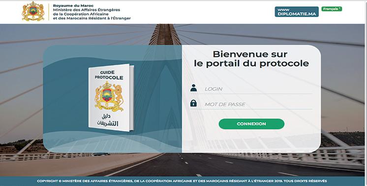 Lancement du portail du protocole destiné au Corps diplomatique accrédité au Maroc