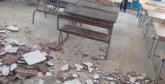 Suite à l'effondrement du toit d'une salle de classe : Les travaux de construction d'un lycée à Sidi Taibi suspendus