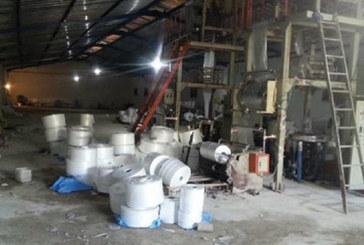Démantèlement à Salé d'un atelier  clandestin de fabrication de sacs  en plastique interdits