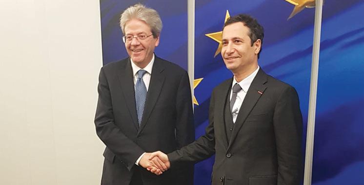 Maroc-UE : Benchaaboun et Paolo Gentiloni explorent  de nouveaux horizons de partenariat