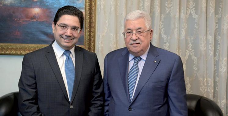 Nasser Bourita reçu à Amman par le président palestinien