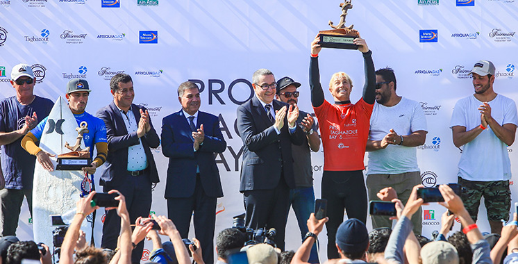 Première édition du Pro Taghazout Bay : L'Américain Nat Young remporte la compétition haut la main