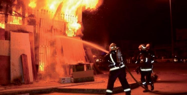 Incendie dans un magasin d'une caserne à Agadir