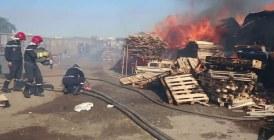 Le feu survenu dans des magasins de bois à Drissia
