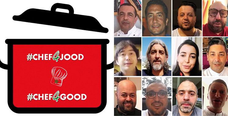 En partenariat avec l'Association Jood :  Des chefs cuisiniers préparent des repas pour les sans-abris