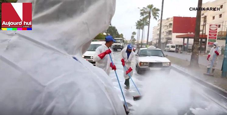 Opération de désinfection des artères de Casablanca