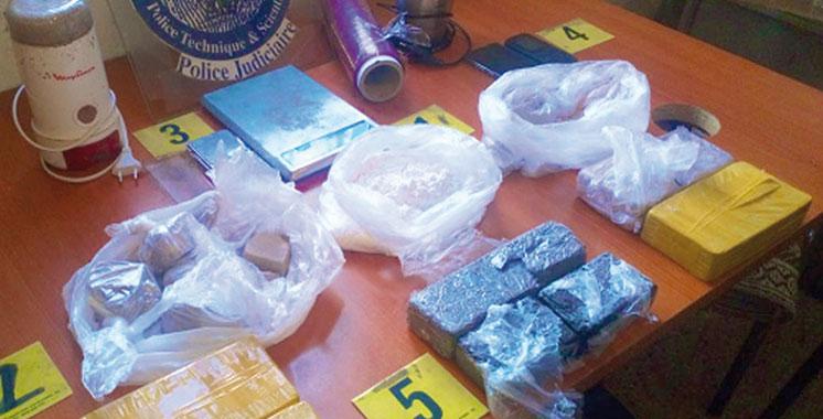 Saisie d'héroïne, haschich, kif…  à Asilah et Drarga