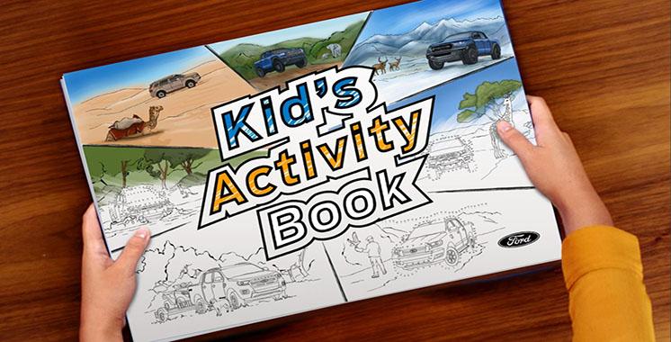 Ford crée un cahier d'activités pour les enfants afin de maintenir l'engagement des jeunes fans