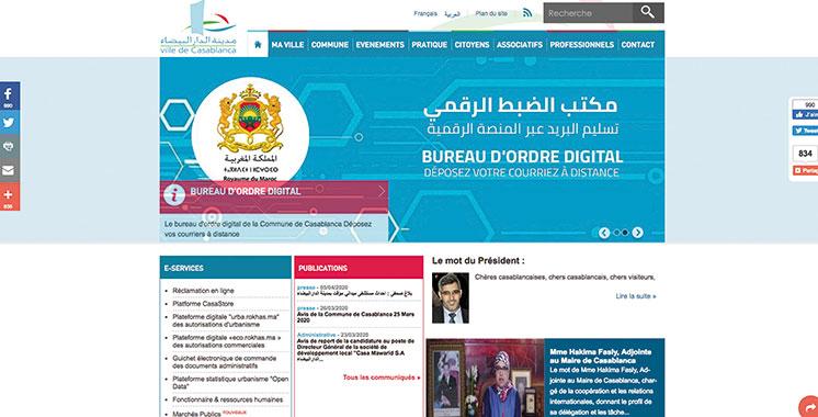 Lancé par la commune de Casablanca : Un bureau d'ordre digital pour épargner le déplacement aux usagers