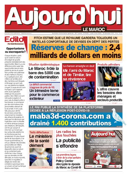 Journal Électronique du Lundi 4 Mai 2020