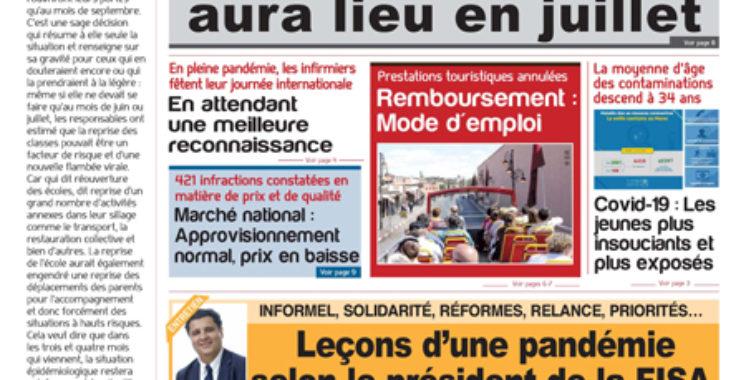 Journal Électronique du Mercredi 13 Mai 2020