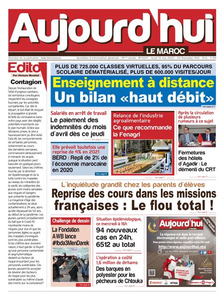 Journal Électronique du Jeudi 14 Mai 2020