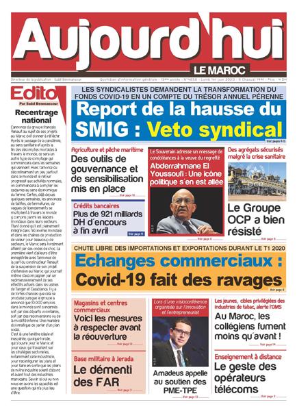 Journal Électronique du Lundi 1 Juin 2020