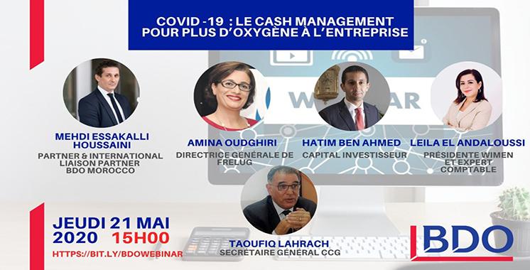 E-conférence: BDO Maroc débat ce jeudi du cash management pendant la crise