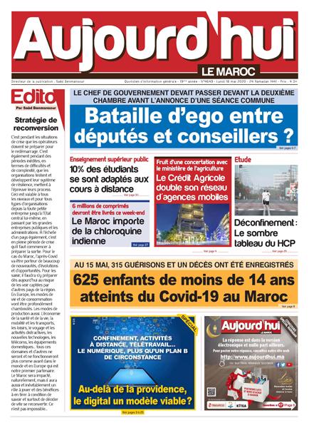 Journal Électronique du Lundi 18 Mai 2020