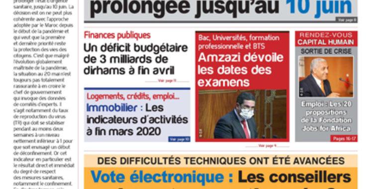 Journal Électronique du Mardi 19 Mai 2020
