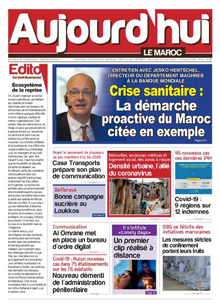 Journal Électronique du Mercredi 27 Mai 2020