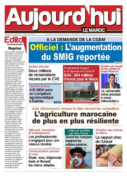 Journal Électronique du Jeudi 28 Mai 2020