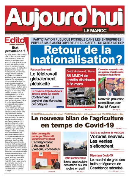Journal Électronique du Mercredi 3 Juin 2020