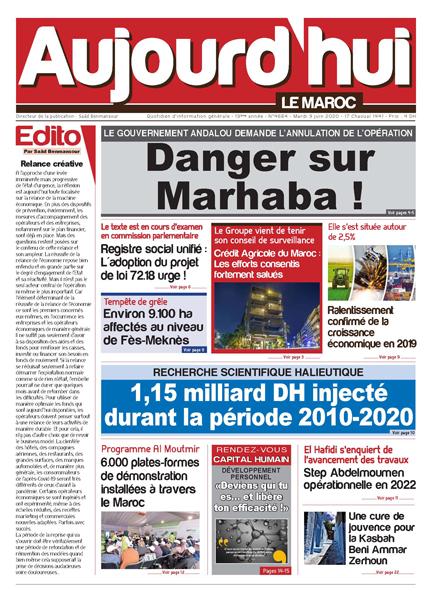 Journal Électronique du Mardi 9 Juin 2020